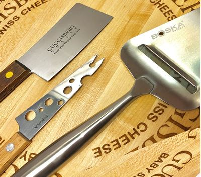 Picture of Cheese Accessories - Shaver, Cleaver, Knife. Spreader, Cutting Board